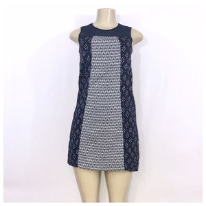 Blue & White Casual Dress X-Small